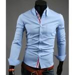 Мъжка риза – светло синя New men's shirt M-L