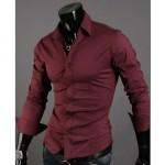 Мъжка риза – бордо Neckline stylish M-L